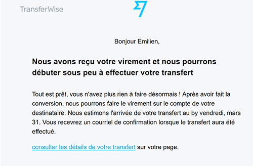 Service client Transferwise