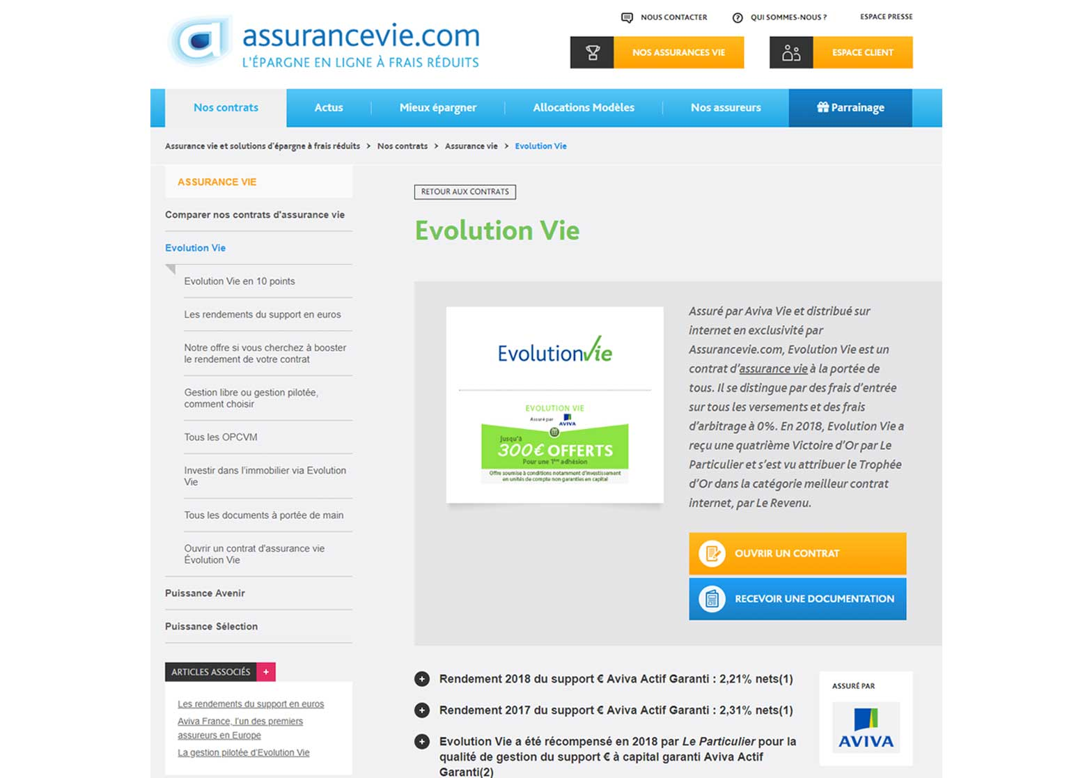 Evolution Vie par Assurancevie.com