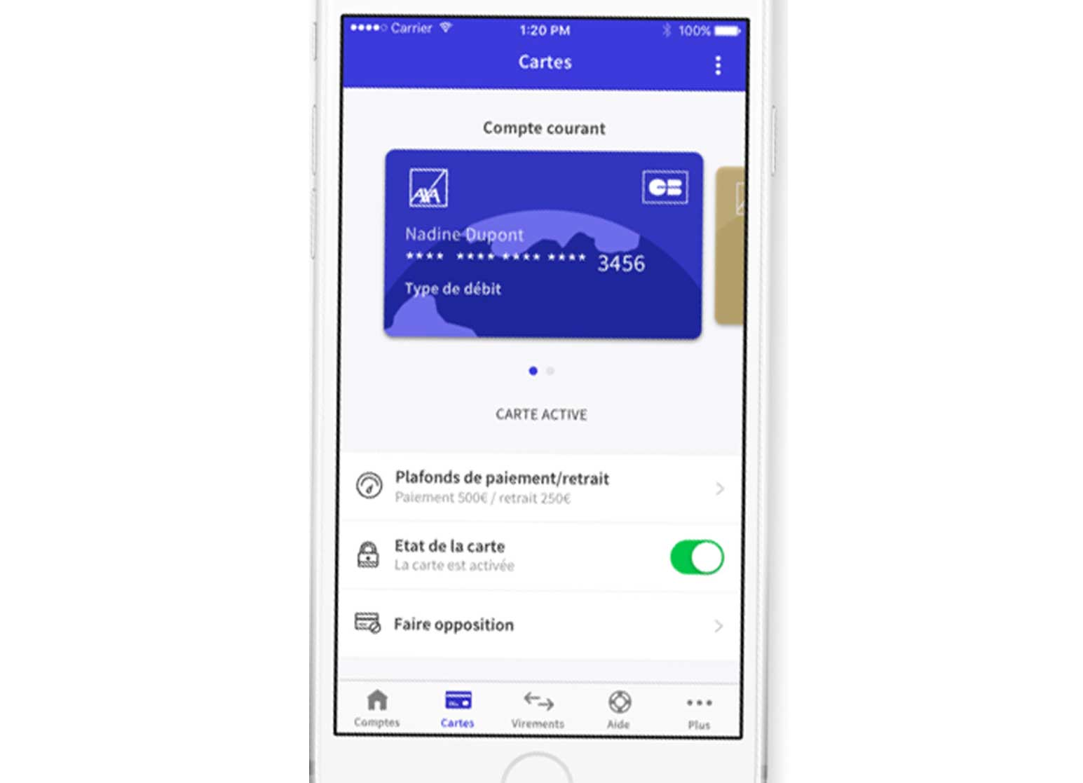 Application mobile AXA Banque
