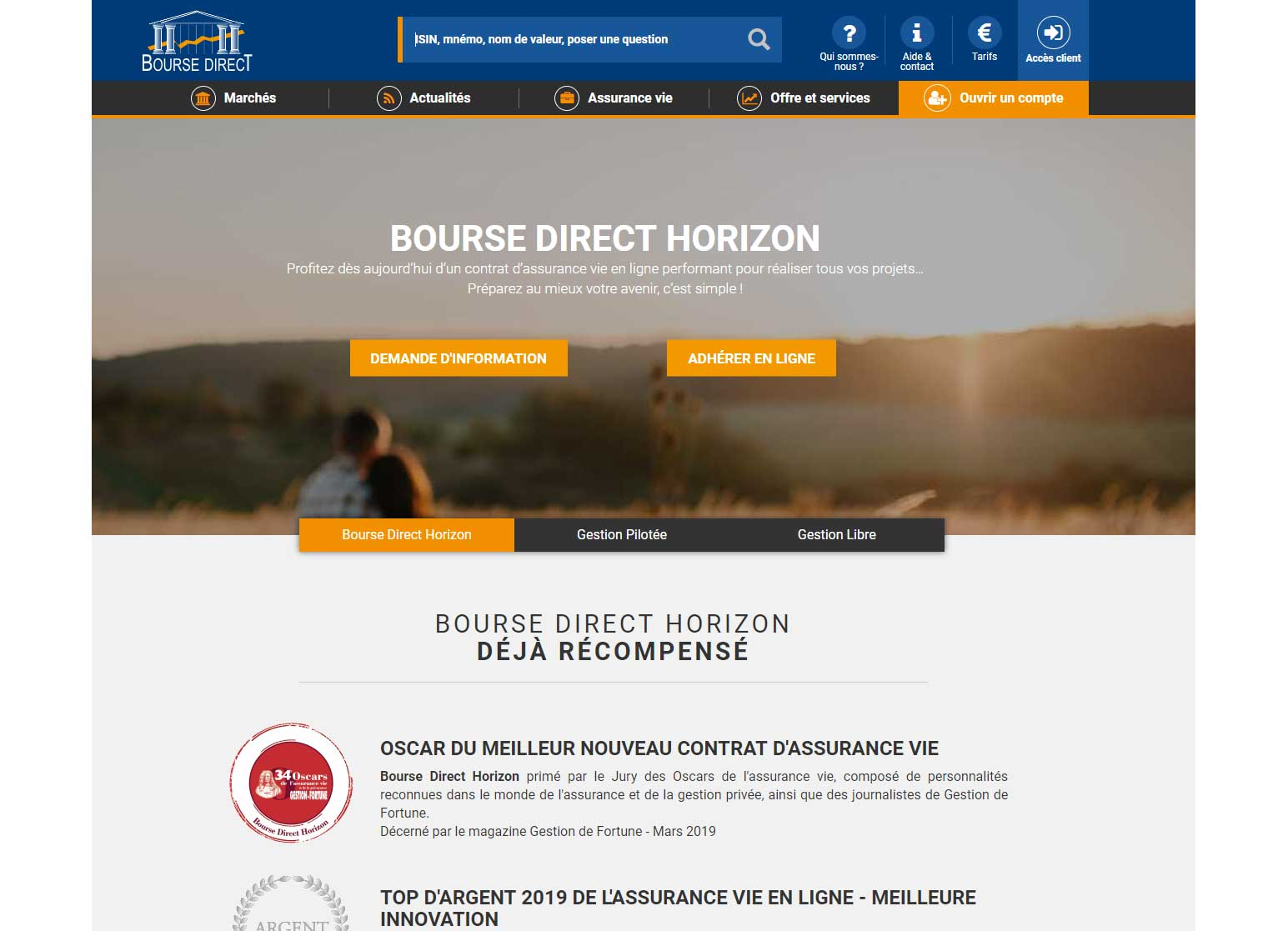 Bourse Direct Horizon