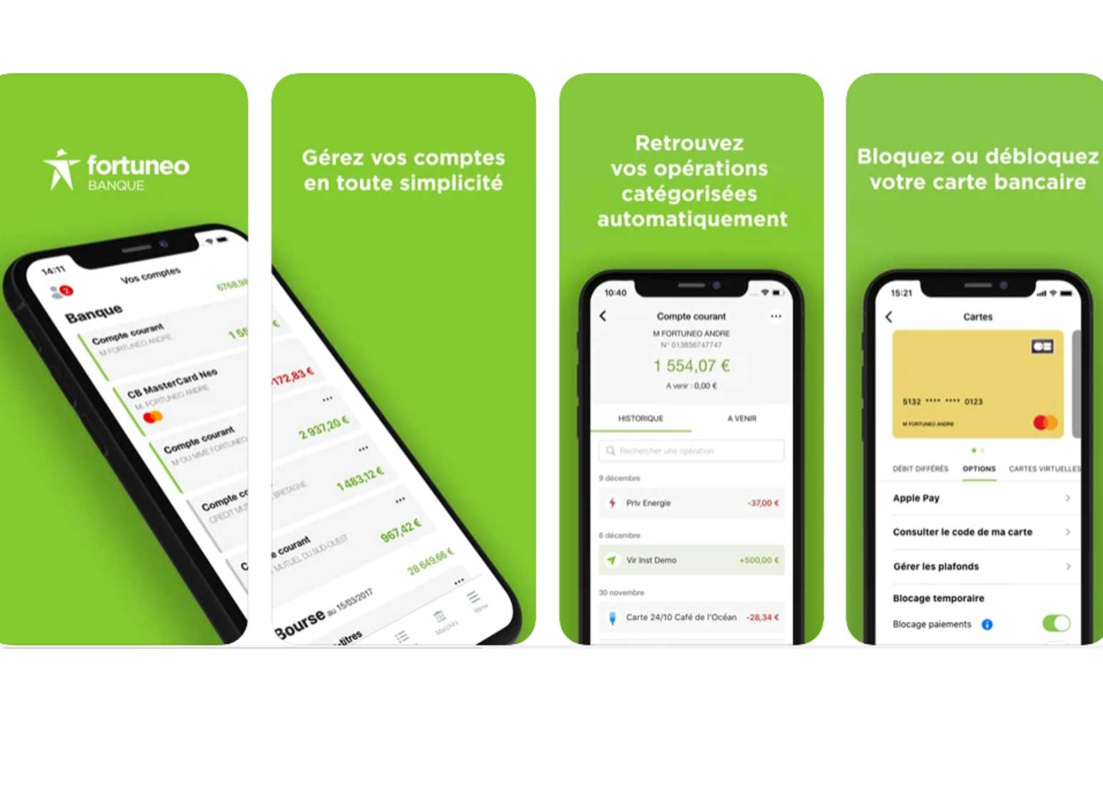 Application mobile Fortuneo Banque