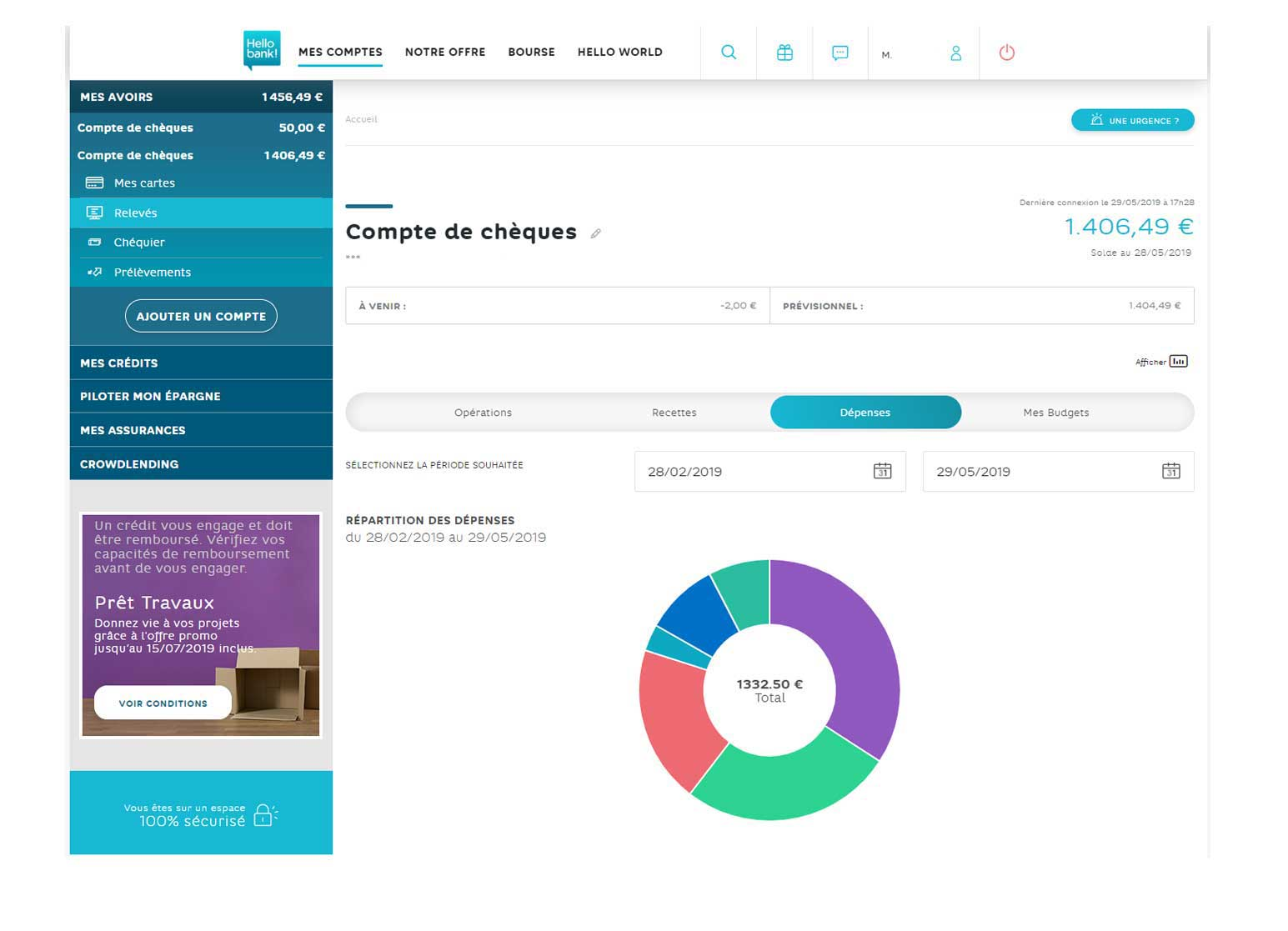 gestion de budget Hello bank