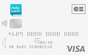 Carte Visa One Hello Bank