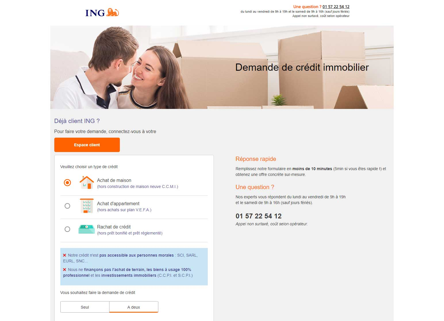 Crédit immobilier ING